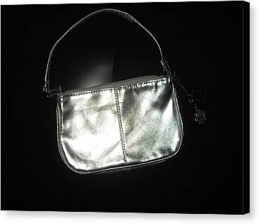 Silver Bag With Rose Locket Canvas Print by Robert Cunningham