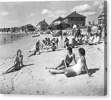 Silver Beach On Cape Cod Canvas Print