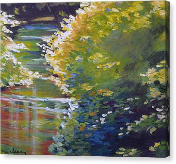 Silver Creek Foliage Canvas Print by Melody Cleary