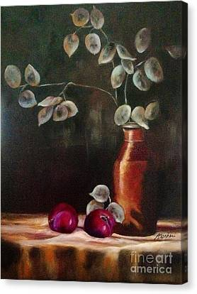 Silver Dollar Still Life  Canvas Print