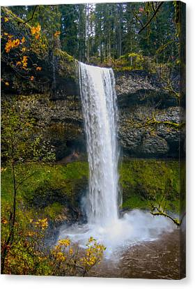 Canvas Print featuring the photograph Silver Falls - South Falls by Dennis Bucklin