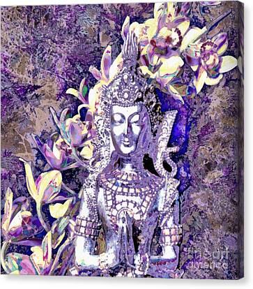 Silver Goddess Canvas Print by SiriSat