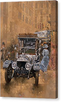 Silver Grace At The Savoy Canvas Print by Peter Miller