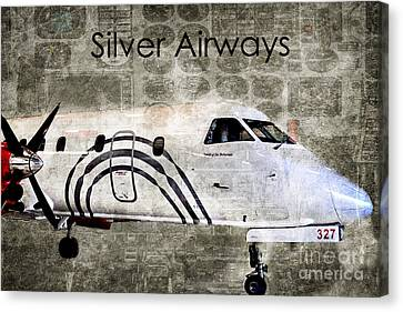 Silver Instrument Panel Canvas Print by Diane E Berry