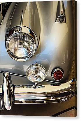 Silver Jaguar Xk 140 Canvas Print by SM Shahrokni