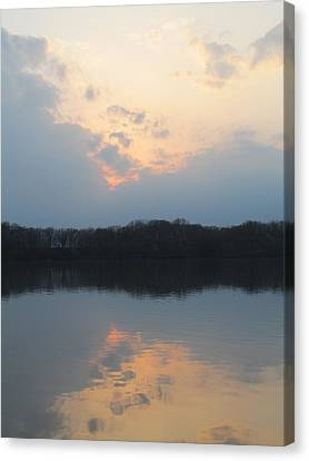 Silver Lake Golden Skies Canvas Print by Jaime Neo