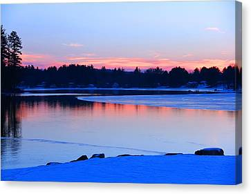Silver Lake In The Evening Canvas Print