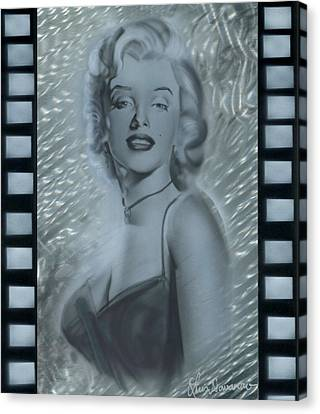 Marylin Monroe Canvas Print - Silver Marylin 3 by Luis  Navarro