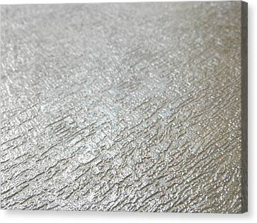 Silver Metal Background 1 Canvas Print by Ian Scholan