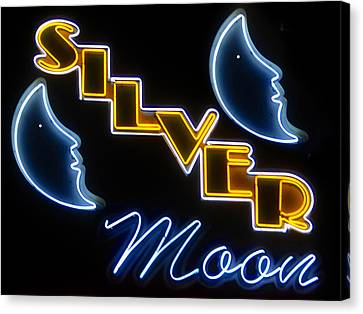 Silver Moon Drive In Canvas Print - Silver Moons by David Lee Thompson