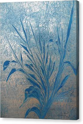 Canvas Print featuring the painting Silver by Nico Bielow