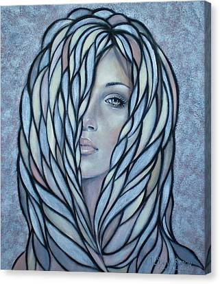 Silver Nymph 021109 Canvas Print by Selena Boron