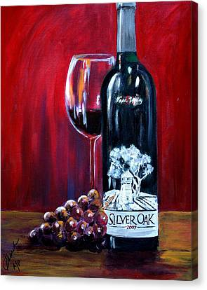 Silver Oak Of Napa Valley And Grape Canvas Print