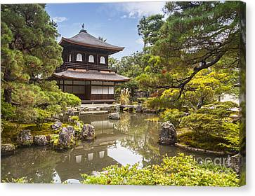 Silver Pavilion Kyoto Japan Canvas Print by Colin and Linda McKie