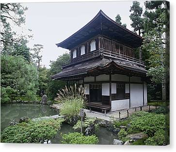 Silver Pavilion - Kyoto Japan Canvas Print by Daniel Hagerman