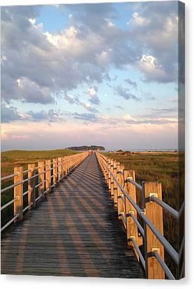 Silver Sands Beach At Sunset Canvas Print