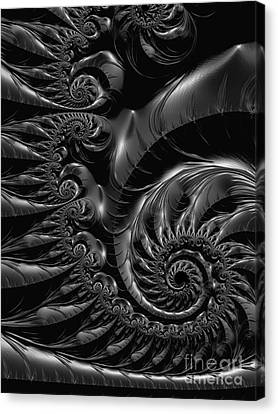 Surreal Digital Image Canvas Print - Silver Spiral  by Heidi Smith