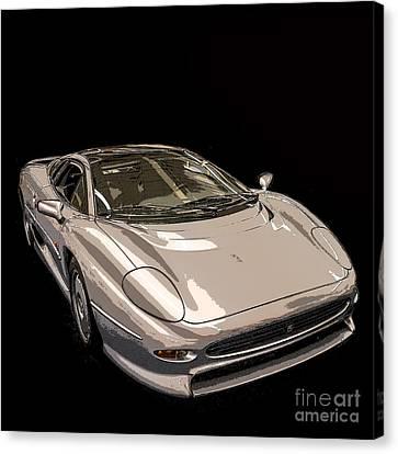 Silver Sports Car Canvas Print by Edward Fielding