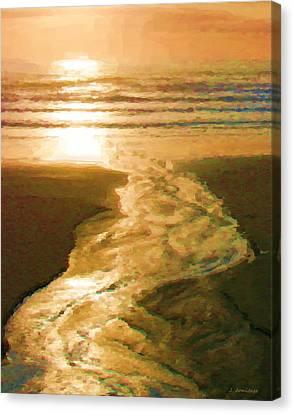 Silver Stream Canvas Print by Jenny Armitage