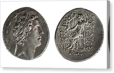 Zeus Canvas Print - Silver Tetradrachm Coins by Photostock-israel