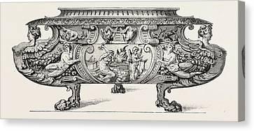 Silver Wine-cooler. Sixteenth Century Canvas Print