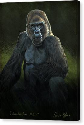 Ape Canvas Print - Silverback by Aaron Blaise