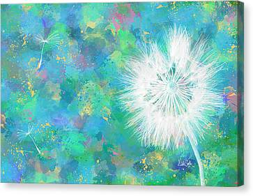Silverpuff Dandelion Wish Canvas Print by Nikki Marie Smith