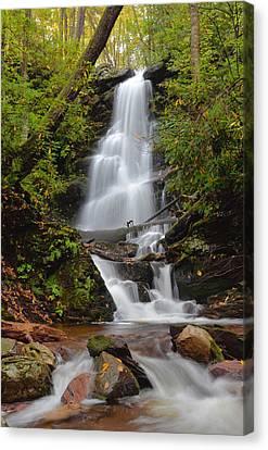 Hidden Falls Canvas Print - Silverspray Falls In Autumn by Stephen  Vecchiotti