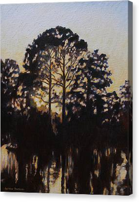 Simmering Sun Canvas Print