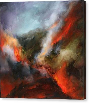 Simmering Vista's Canvas Print by Lissa Bockrath
