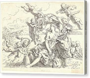 Simone Cantarini Italian, 1612 - 1648. Rape Of Europa Canvas Print
