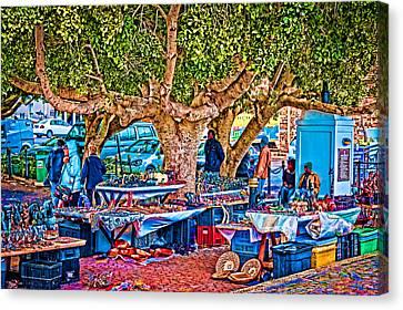 Simon's Town Market Canvas Print by Cliff C Morris Jr