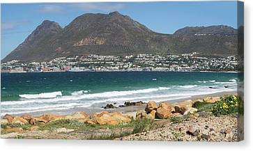 Simons Town Naval Base To Left Seen Canvas Print by Panoramic Images
