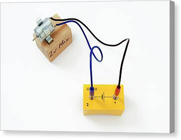Simple Circuit With Motor Canvas Print