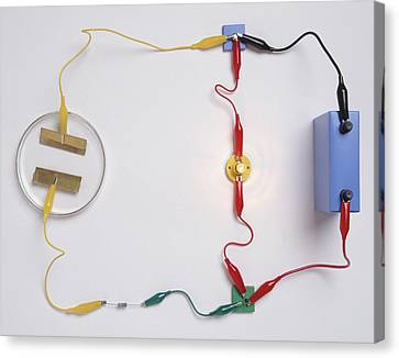 Simple Electronic Circuit Detects Water Canvas Print by Dorling Kindersley/uig