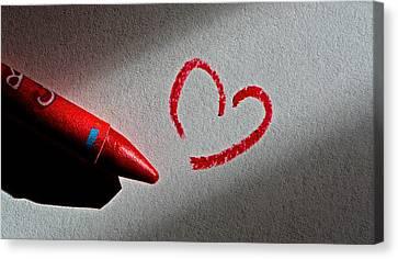 Simple Love Canvas Print by Bill Owen
