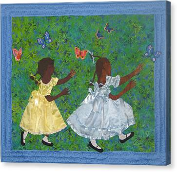 Simple Play Canvas Print by Aisha Lumumba
