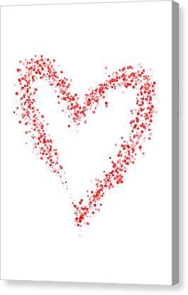 Simple Red Heart Canvas Print by Mariola Szeliga