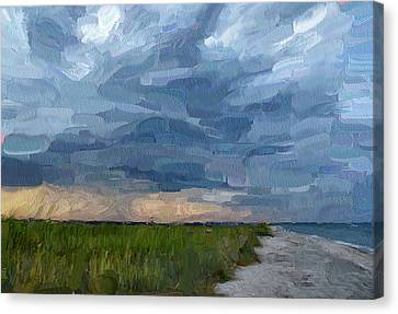 Simple Seaside Landscape Canvas Print by Yury Malkov