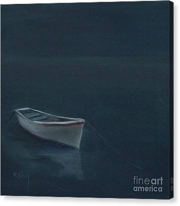 Simple Serenity - Lone Boat Canvas Print