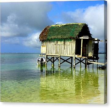 Fishing Shack Canvas Print - Simple Solitude by Karen Wiles