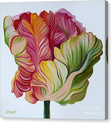 Simple Tulip Canvas Print by Debbie Hart