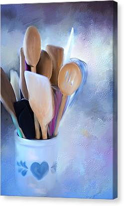 Simple Utensils. Canvas Print by Mary Timman