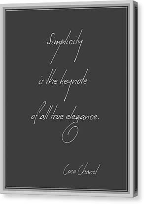 Simplicity And Elegance Canvas Print