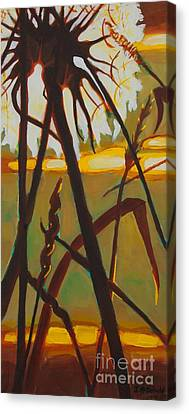 Canvas Print featuring the painting Simplicity Of Light by Janet McDonald