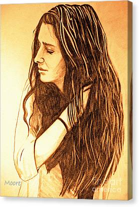 Canvas Print featuring the drawing Simplicty by Justin Moore
