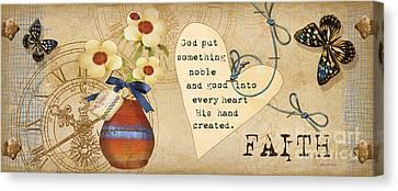 Simplified Faith Canvas Print by Grace Pullen