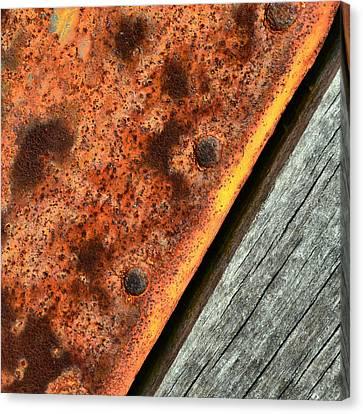Simplistic-raw Steel Canvas Print by Tom Druin