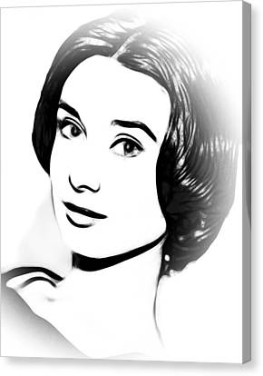Simply Audrey Canvas Print by Steve K