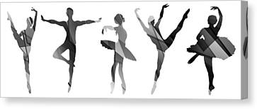 Ballerine Canvas Print - Simply Dancing 4 by Angelina Vick